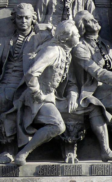 Д. И. Фонвизин на Памятнике «1000-летие России» в Великом Новгороде