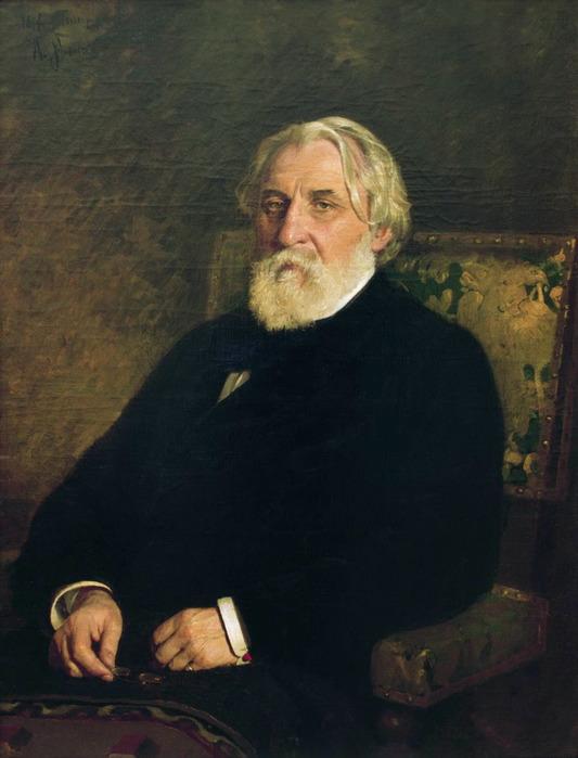 Иван Сергеевич Тургенев. Художник Илья Репин Портрет (1879)