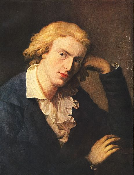 Иоганн Кристоф Фридрих фон Шиллер (нем. Johann Christoph Friedrich von Schiller). Портрет работы Антона Графа. 1790