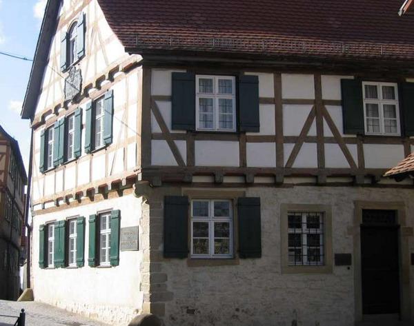 Дом в Марбахе, где родился Фридрих Шиллер