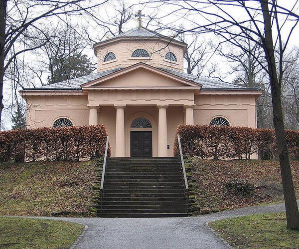 Княжеская усыпальница на веймарском кладбище, где похоронены Шиллер и Гёте