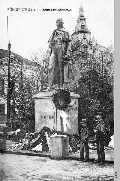 Памятник Шиллеру в Калининграде (довоенное фото)